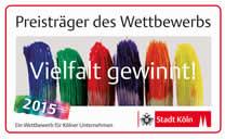 Preistr�ger des Wettbewerbs Vielfalt gewinnt 2015